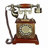 SXRDZ Teléfono Fijo para el hogar Europeo Antiguo TELÉFONO TELÉFONO DIAL ROTARIO Teléfono Retro Teléfono de Escritorio de línea Fija, Teléfono con Cable para el hogar y la decoración, Teléfonos Retro