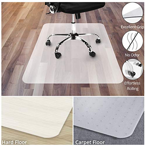 Office Chair Mat for Hardwood Floor | Opaque Office Floor Mat | BPA, Phthalate and Odor Free |...