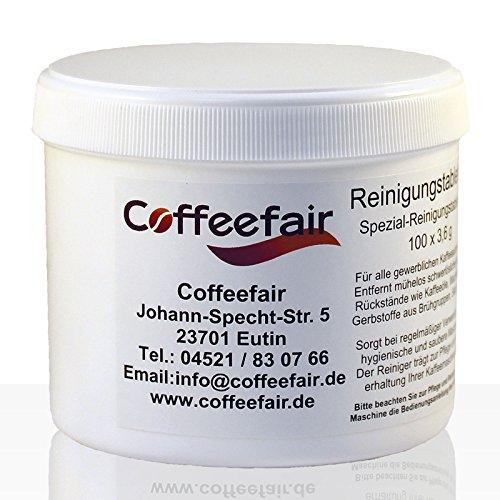 Coffeefair Reinigungs-Tabletten für Kaffeevollautomaten 100 x 3,6g