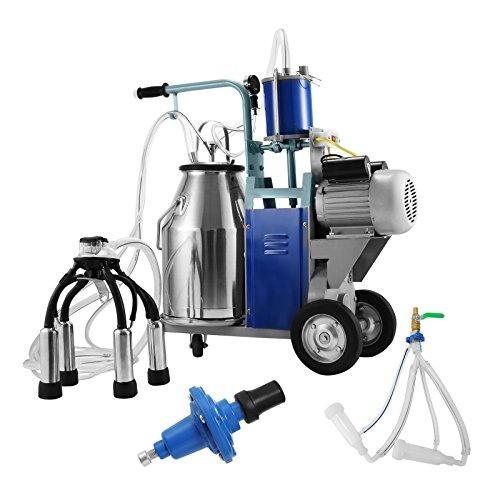 Buoqua Elektrisch Melkmaschine ziegen für Kühe und Ziegen 25L milking machine 1440RPM 0.55KW Melken Kühe 304 Edelstahl Melkmaschine 10-12 Kühe pro Stunde