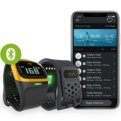 MIO Alpha LED Activity Tracker mit Herzfrequenzmessung (Ohne Brustgurt, Einstellbare Herzfrequenzzonen, EKG-genaues Fitnessarmband App, wasserdicht, 14,7 - 19cm Handgelenkumfang) gelb