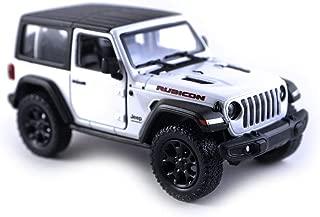 Jeep Wrangler Rubicon 4x4 Hard Top Off-Road Explorer Diecast Model Toy Car White