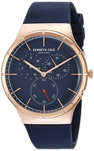 Kenneth Cole New York KC50057001 - Reloj de Cuarzo para Hombre (Acero Inoxidable y Silicona), Color Azul