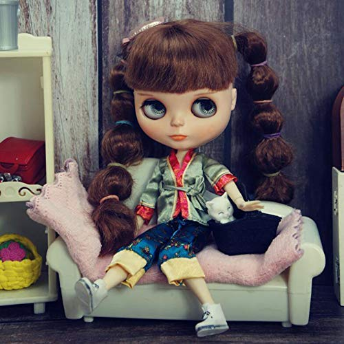 leoglint Blythe Doll Clothes Shirt and Pants Clothing for Blythe Doll 30 cm 1/6 Bjd Dolls Azone ICY Licca Doll