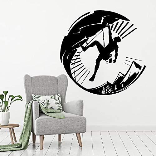 Dongwall Benutzerdefinierte Kletter Vinyl Wandaufkleber Extremsport Stil Home Decoration Kletter Wandtattoos abnehmbare Kletterer Kunst Poster 57x56cm