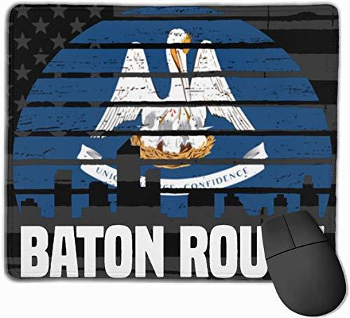 Baton Rouge Louisiana Flag Mousepads rutschfeste Gaming Mouse Pad Mousepad für Arbeitsbüro zu Hause