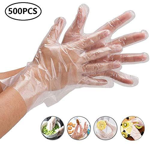 Westeng Einweg-Handschuhe, transparent, aus PE-Kunststoff, 500Stück