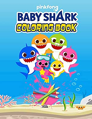 Baby Shark Coloring book: 28 Exclusive Illustrations For Adults and Kids