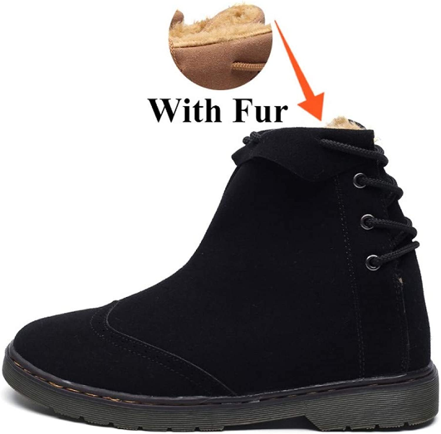 FHCGMX New Winter Fashion Male shoes For Men Adult With Warm Snow Boots Casual Non-Slip Sneakers Footwear Ankle Boots