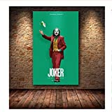 mmzki Hollywood Joaquin Phoenix Poster Prints Joker Poster Movie Comic Art Canvas Oil Painting Wall Pictures For Living Room Home Decor