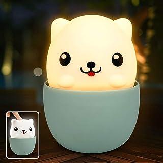Veilleuse Enfant LED, Veilleuse de Bébé, Lumière LED Lampe de Nuit USB Rechargeable avec Contrôle Tactile, Lampe de Silico...