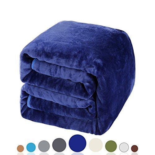 Balichun Soft Fleece Queen Blanket Winter Warm Brushed Flannel Blankets All Season Lightweight...