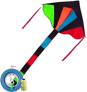 ロングテールカイト カラフルな凧 公園凧 大型 おもちゃ 大人用 そよ風 簡単に飛ばせる凧 175 120cm