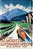 Kilburn Car St.Moritz Automobile Week Retro Creative Wall Decoration Personality Trend Background Simple Style Pintura de Hierro