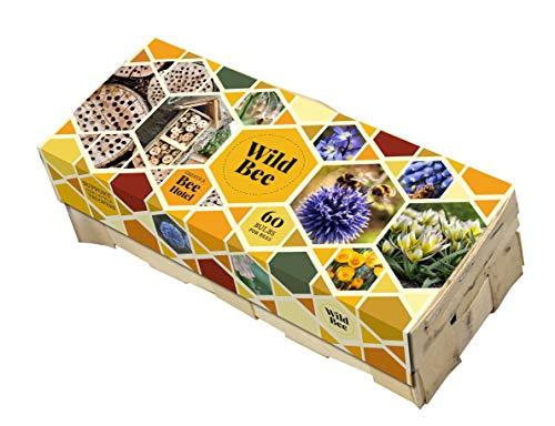 Blumenzwiebel Mix für 1m² bienfreundlich - Wild Bee- in Holzkörbchen ca. 27x11x7 cm