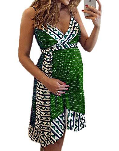 Robe de maternité pour Femmes, Robe Enceinte d'été Robe d'été Femmes Robe de Chambre Chemises Pyjamas Robes de Grossesse, Tailles Plus