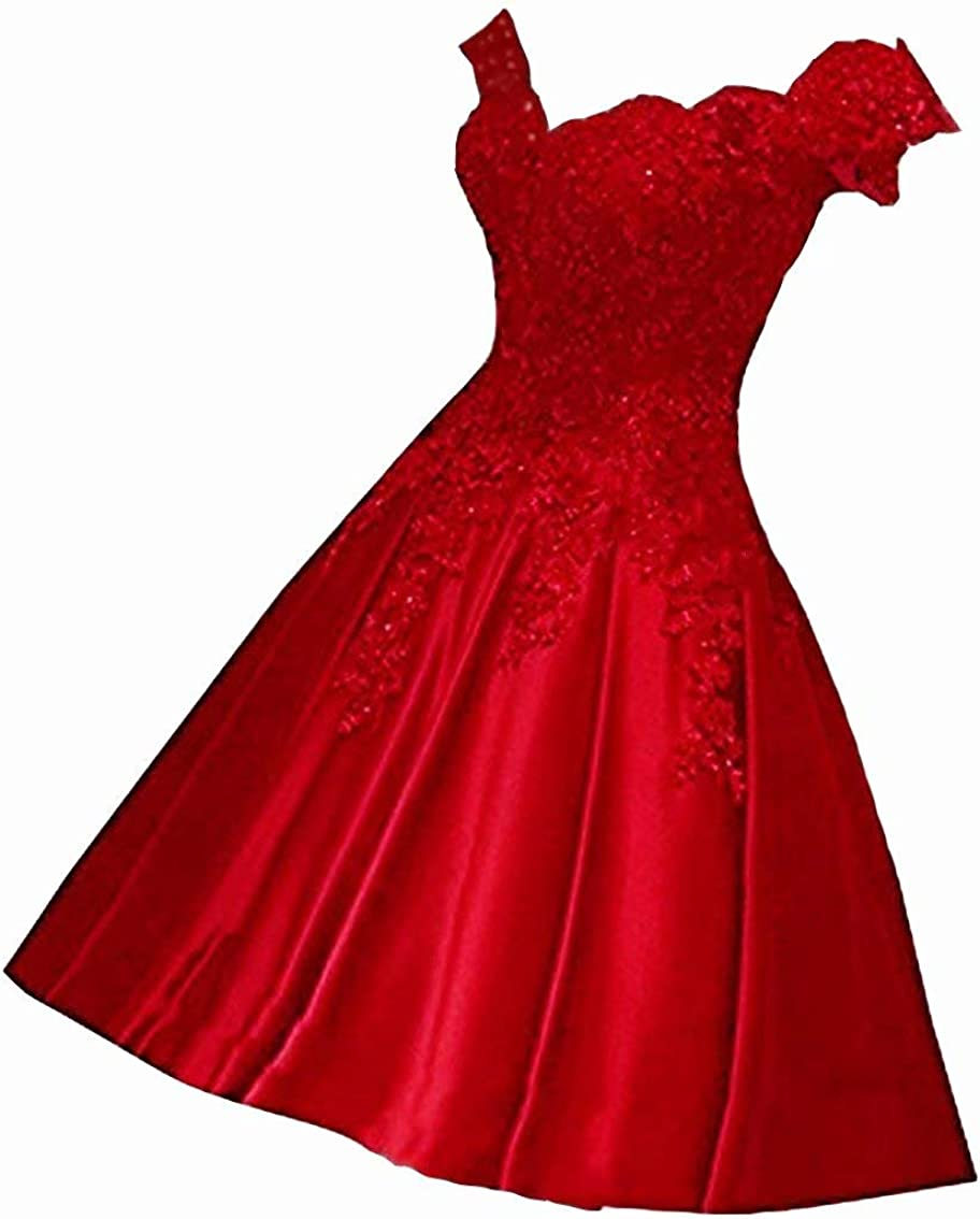 FTBY Women's Off Satin Short Prom Dress Lace s Juniors Gowns Pockets
