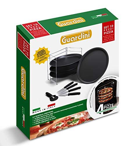 Guardini Scatola regalo 10 pezzi pizza: 1 Griglia porta tegami+4 Tegami pizza Ø32cm+4...