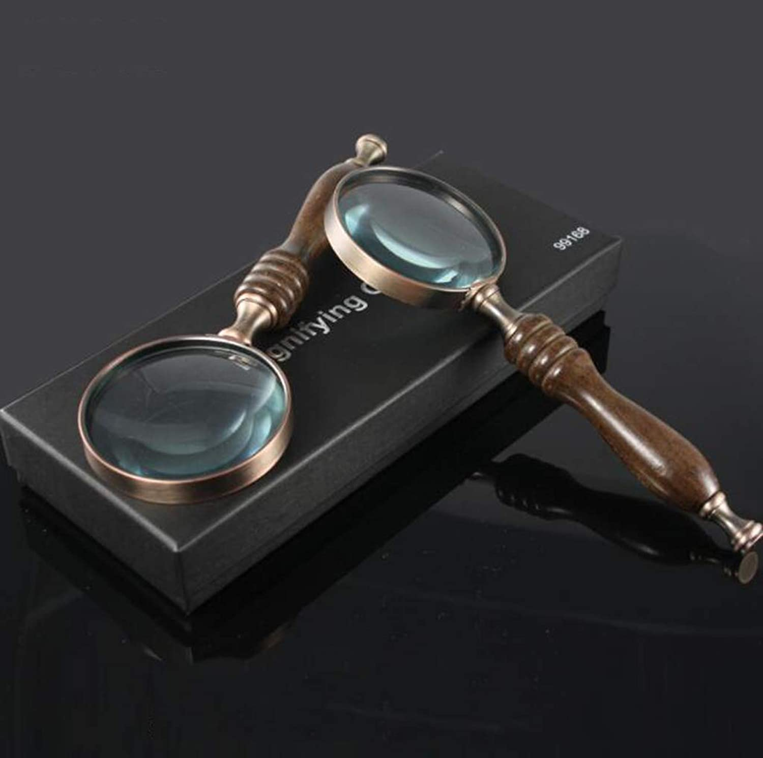 Magnifying Glass, Ebony Handle, Vintage Collection, Gift, 10 Times, Hand-Held, Portable Optical Glass Lens