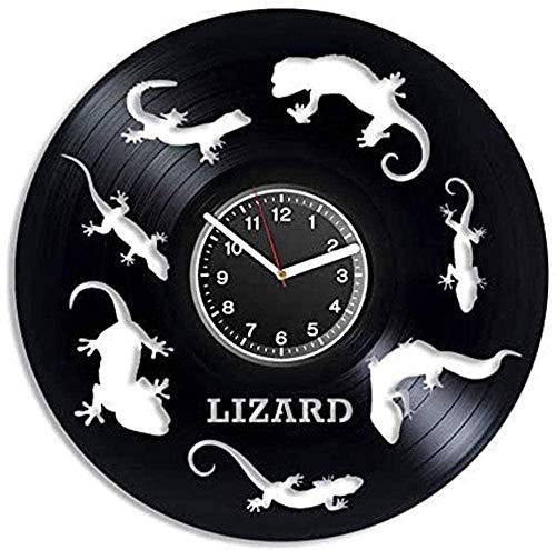 Reloj de pared de vinilo con diseño moderno y creativo, para decoración del hogar, decoración única para la habitación de los niños, jardín de infancia, decoración de animales