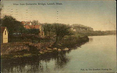 View from Centerville Bridge Lowell, Massachusetts MA Original Vintage Postcard