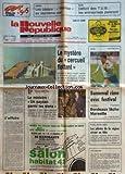 NOUVELLE REPUBLIQUE (LA) [No 12897] du 09/03/1987 - ZEEBRUGGE / LE MYSTERE DU CERCUEIL FLOTTANT - L'AFFFAIRE PAR BONNET - SALON AGRICOLE ET FRANCOIS GUILLAUME - PARIS - PEKIN - PARIS / LES PILOTES DE LA REGION VIRENT EN TETE / MICHEL-CHRISTIAN LALOE - GARCON-PATRICK DUCOMMUN - LES SPORTS / FOOT - RUGBY