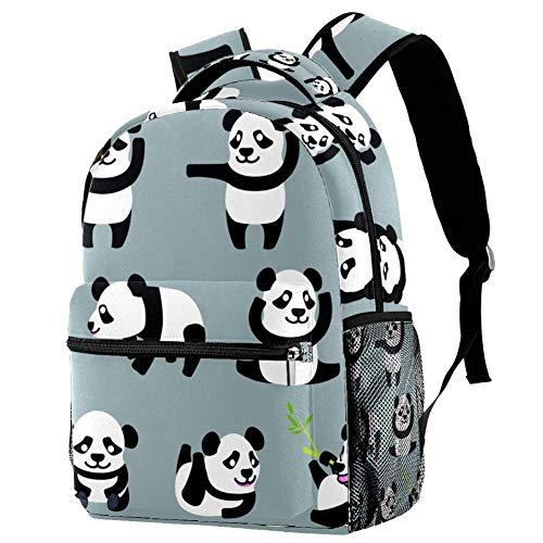 LORVIES Multi Action Baby Panda Personages Casual Rugzak Schouder Rugzak Boekentas voor Schoolstudenten Reistassen