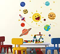 Material: Vinyl, Color: Multicolor Package Contents: 1 Wall Sticker Item Size: 49 cm x 4 cm x 4 cm Made in India Easy to Stick and Remove Matte finish