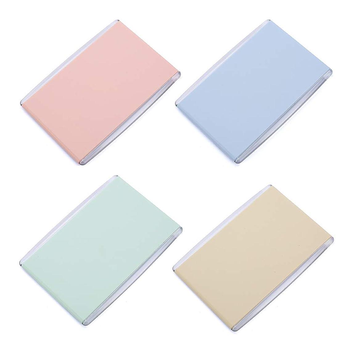 優先メロディー組み込むManyao 1Pc女性の女の子ポータブル折りたたみ長方形7.8x11cmミニコンパクトポケットミラーキャンディーカラー片面の旅行デスクトップの化粧品ツール
