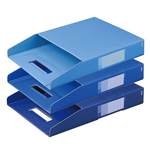 プラス ボックスファイル A4 デジャヴ FL-027BF-3P 87-691 クールトーン3色組