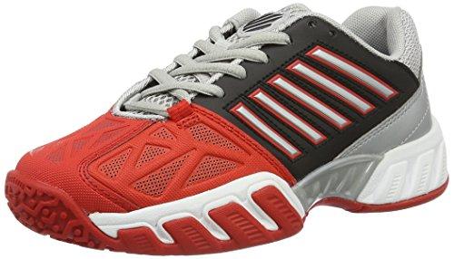 K-Swiss Performance Bigshot Light 3 Jnr Omni, Zapatillas de Tenis para Niños, Multicolor (Fiery Red/Black/Silver), 37.5 EU