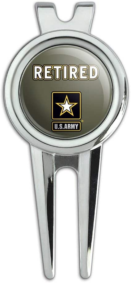 Free Shipping New GRAPHICS MORE U.S. Army Max 85% OFF Retired Logo Divot Repair Tool an Golf