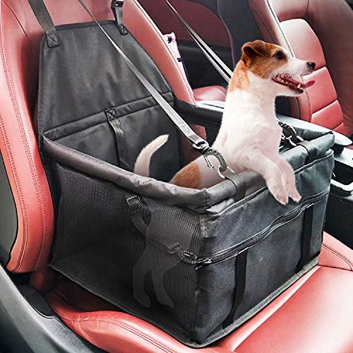 DY_Jin Asiento Elevador para el automóvil Reforzado para Mascotas para Perros Gato, Asientos portátiles, Plegables y Transpirables para Mascotas con cinturón de Seguridad