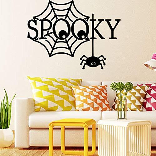 Papel pintado pegatinas de pared de Halloween pegatinas de araña extrañas habitación de los niños decoración familiar pegatinas de pared murales A7 114x84cm