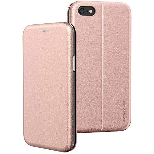 BYONDCASE iPhone 6s Hülle Rosa, Handyhülle iPhone 6 Hülle [Deluxe Leder Flip-Case Klapphülle] Case Schutzhülle kompatibel für iPhone 6s Tasche