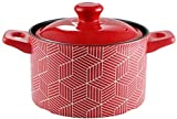 HYYDP Cacerolas Guiso Pot Casserole Pot Cerámica Cerámica Pot - Cazuela Stef Pot Sopa De Cerámica De Cerámica Y Primidge Especial Casserole Rojo Alta Temperatura Pote De Sopa Grande (Size : 3.5L)