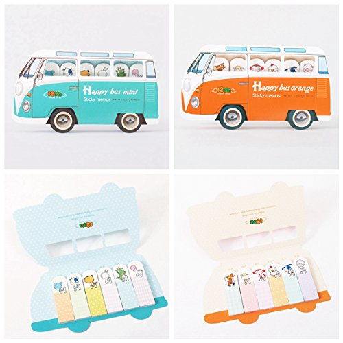 Generic yc-uk2–151124–75< 1& 5526* 1>: randomkmark Marke Marker Flags UK Zoo Süße Tier Memo Index Pad Bus Form Lesezeichen Sticky Notes Farbe: zufällige UK Cute Zoo