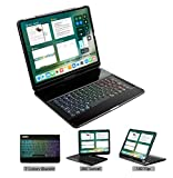 LENRICH iPad pro 12.9 case with Keyboard 2018 3rd Gen Backlit,7...