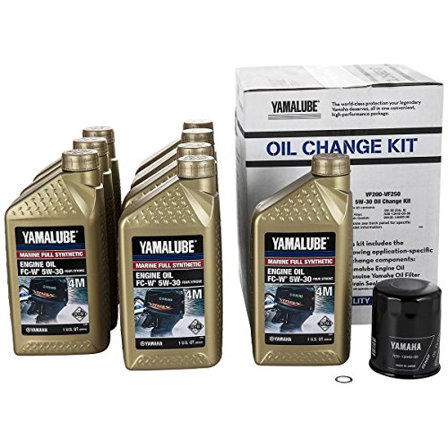 Yamaha Outboard VF200-VF250 Full Synthetic Oil Change Kit, 5W-30 LUB-MRNSH-KT-05