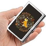 Tarjeta de visita profesional, caja de billetera de acero inoxidable Titular de la tarjeta de identificación de crédito Golden Fox