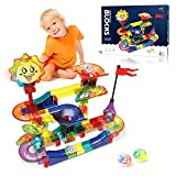 Dlordy Glowing Marble Run for Kids, 110 PCS...