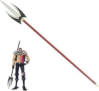 HLZG One Piece Charlotte Katakuri Cosplay Sabo Costume PVC Usopp Weapon Prop for Men