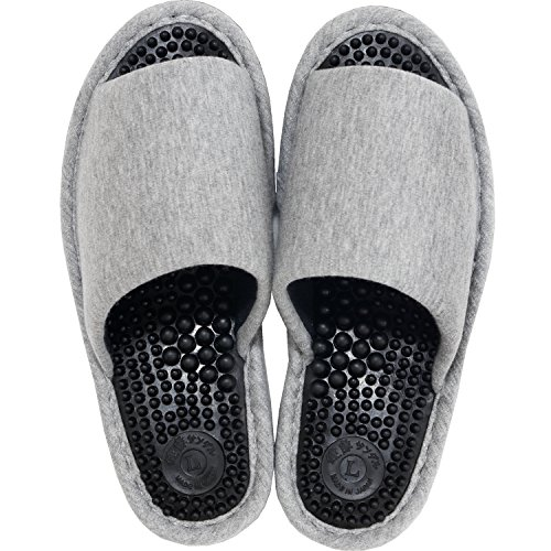 オカ 洗える 健康スリッパ レディース Lサイズ 足のサイズ約22.5cm〜23.5cm グレー