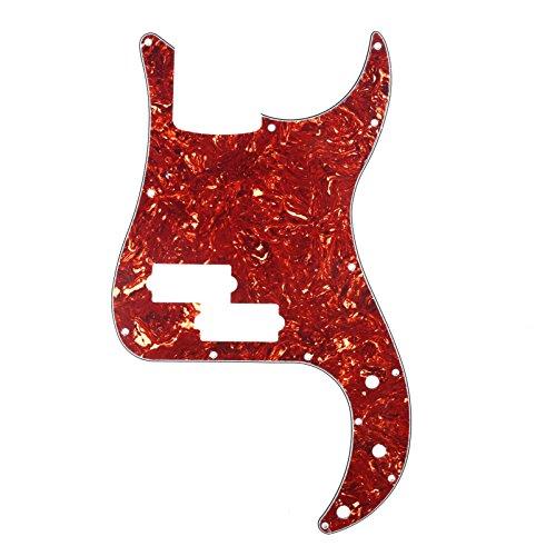 Musiclily 13 Furos Escudo Baixo Pickguard para Fender EUA / Mexicana Standard Precision Bass 4 Cordas, 4 Camadas Vintage Tortoise