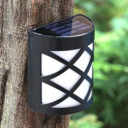 LEDMOMO Lámpara solar de pared montada en la pared de las luces...