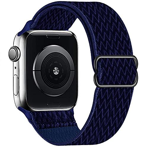 OHCBOOGIE - Correa elástica para Apple Watch (1.496in, 1.575in), color azul