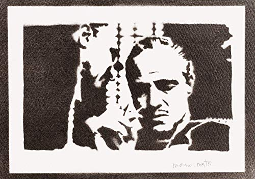 Der Pate Poster The Godfather Don Vito Corleone Plakat Handmade Graffiti Street Art - Artwork