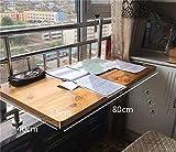Mesa de centro colgante Barra balcón - Madera Maciza -...