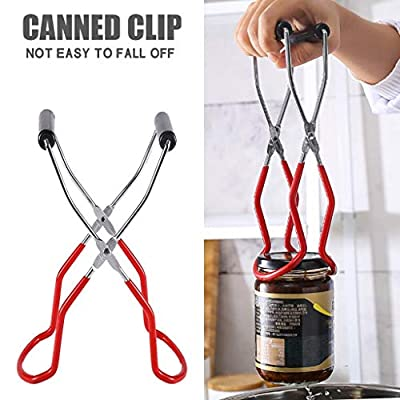 Canning Jar Lifter with Rubber Grips, Long Hand...