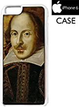 william shakespeare iPhone 6 WHITE FRAME hard plastic cell phone Case / Cover Great Gift Idea
